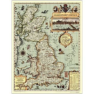 National Geographic store: Shakespeare's Britain Map $10.95