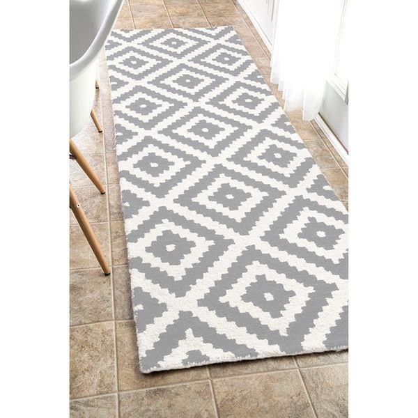 Nuloom Handmade Wool Abstract Pixel Trellis Area Rug Tapetes De Croche Barbante Tapetes Tapete Para Cozinha