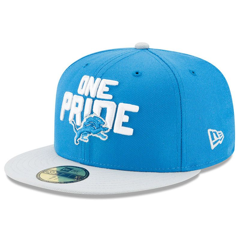 new arrival 2f355 78a8d Detroit Lions New Era 2018 NFL Draft Spotlight 59FIFTY Fitted Hat –  Blue Gray