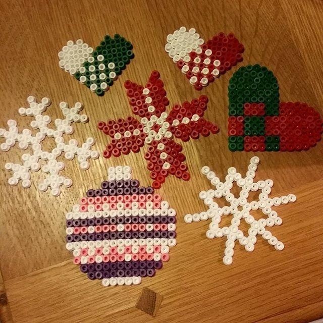 Christmas ornaments hama beads by ulrika_80