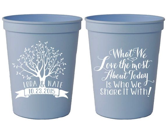 Personalized Plastic Cups What We Love Most Party Cups Etsy Wedding Cups Personalized Plastic Cup Custom Plastic Cups