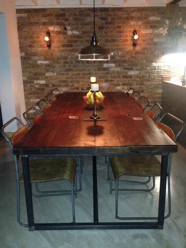 Industrial Mill Style Reclaimed Wood Banquetboardroom Table Awesome Industrial Style Dining Room Tables Design Ideas