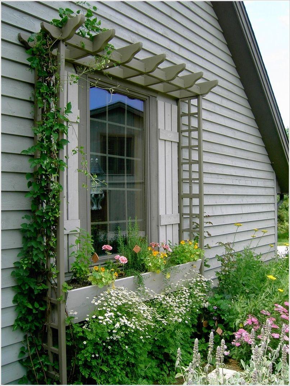 House box window design   amazing ideas to decorate your homeus exterior window  herb