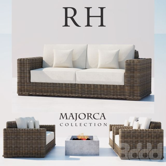 Swell Rh Rattan Sofa Set 3D Models Rattan Sofa Sofa Sofa Set Download Free Architecture Designs Scobabritishbridgeorg