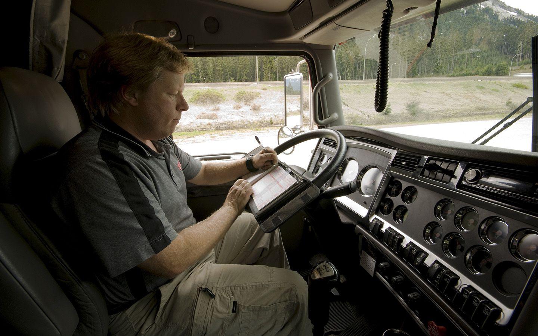 Commercial driver information management system set