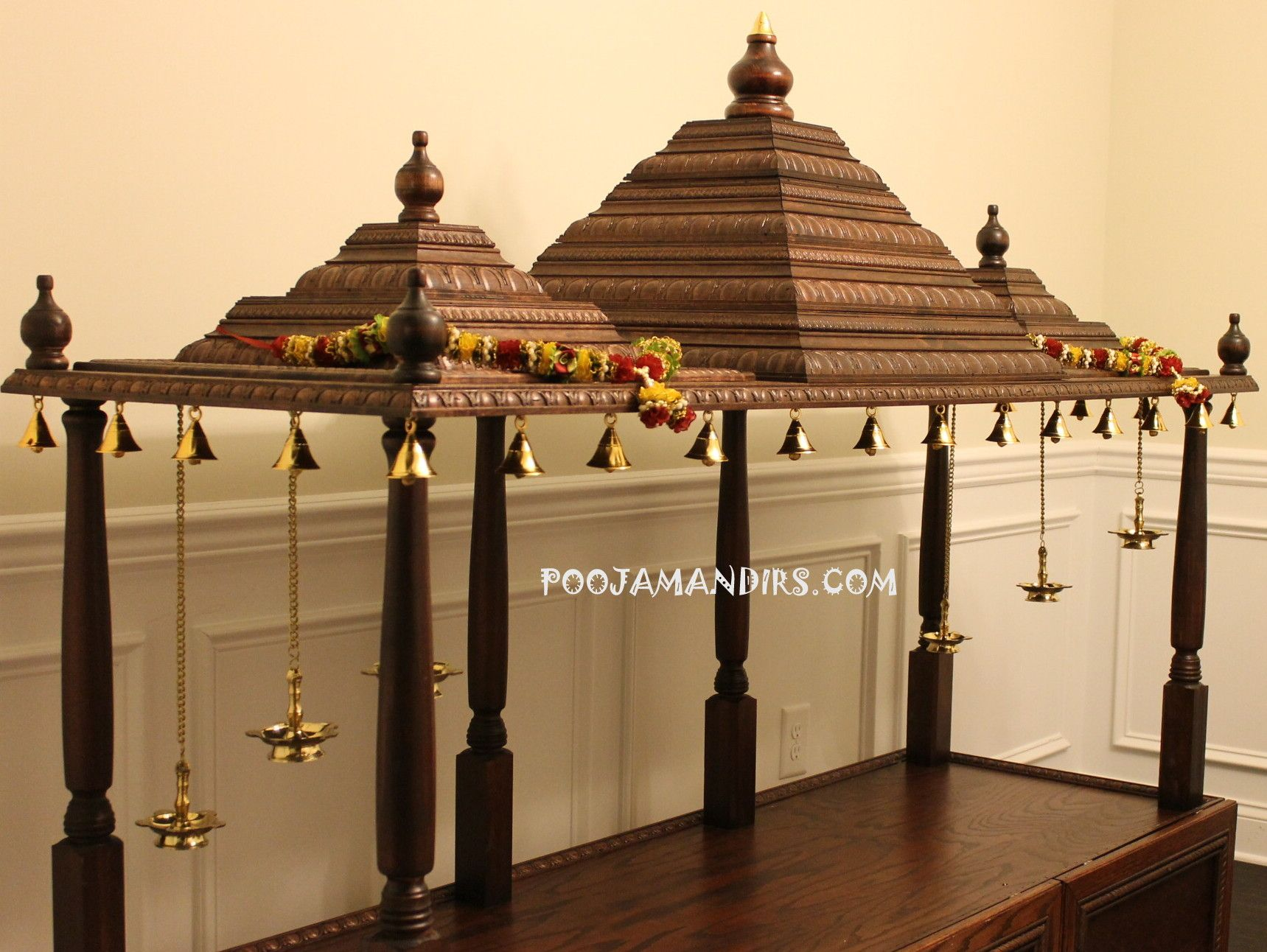 Wooden temple designs for home small temple for home wooden home - Custom Pooja Mandirs Made In The Usa Cary North Carolina Cary North Carolinapuja Roomkrishnadesign For Homeprayer Roomtemplesganeshchair Design Hinduism