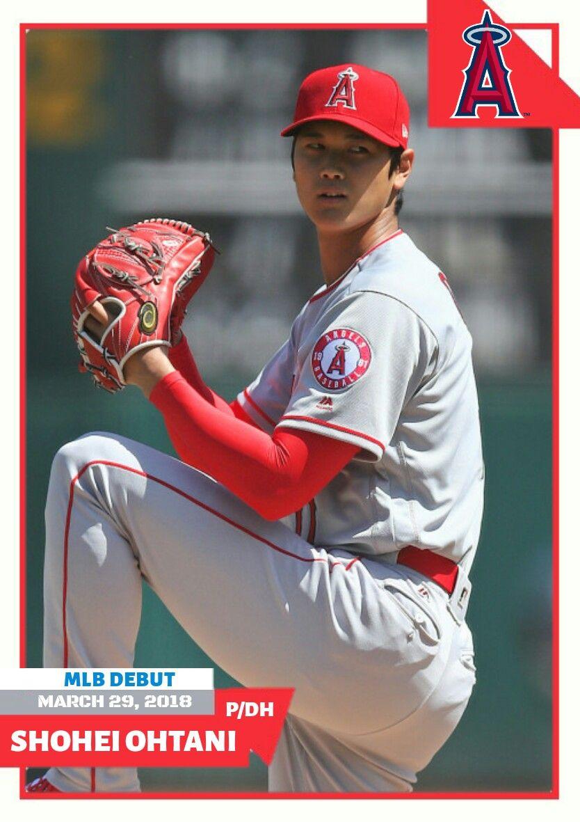 MLB Debut custom baseball card Shohei Ohtani