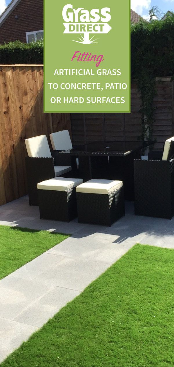 Fitting Artificial Grass to Concrete, Patio or Hard