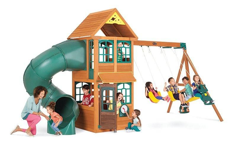 Cloverdale Premium Collection Wood Swing Set video | Wood ...