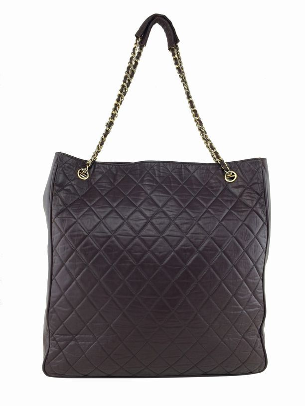3dfe4dbb9d97 Consigned Designs | Chanel Handbags | Brown Vintage Quilted Lambskin Leather  Large Tote #chanel #chanelbag