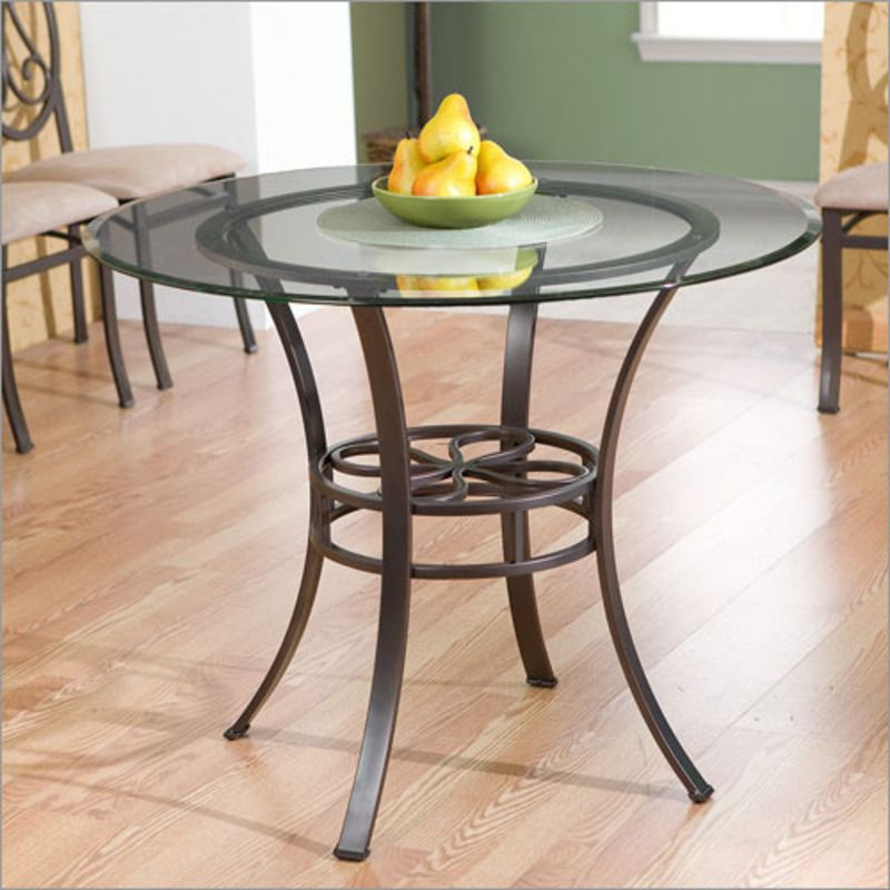 Round Glass Table For The Dining Room  Moveis De Metal Fascinating Glass Topped Dining Room Tables Review