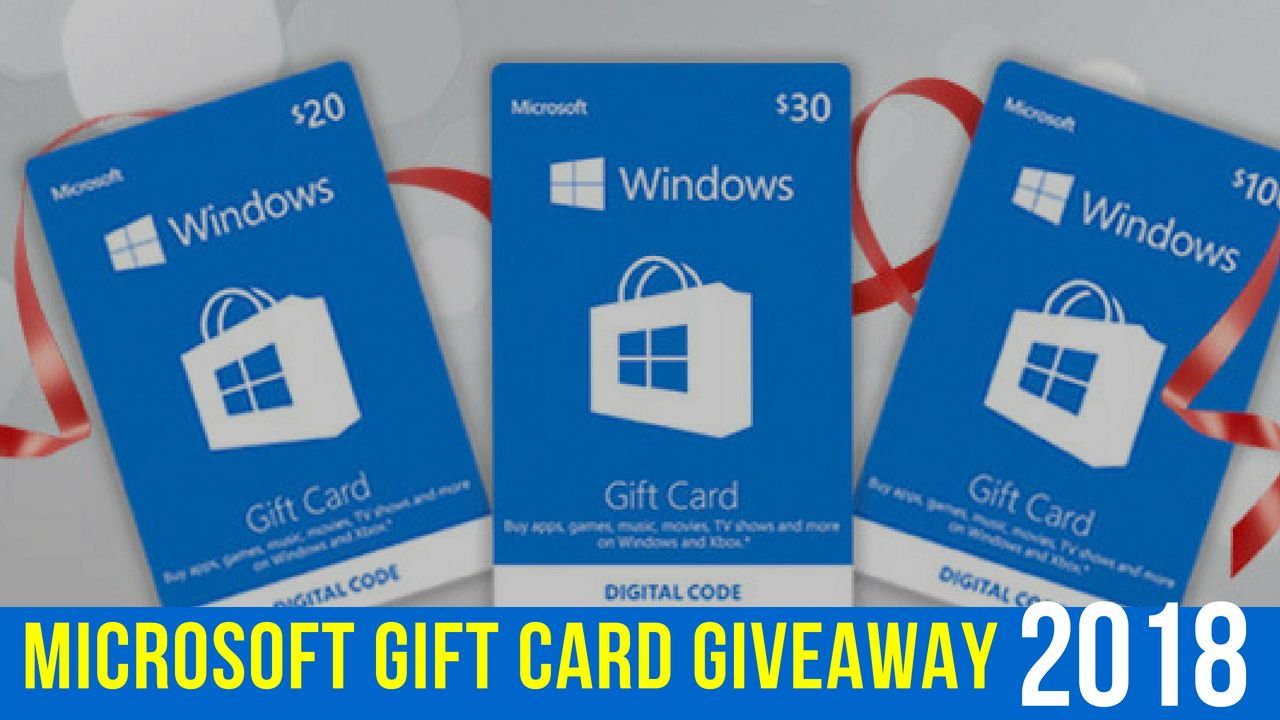 Microsoft Gift Card Codes Free Windows Cards