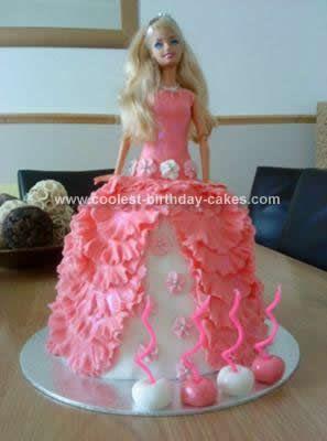 Coolest Barbie Doll Birthday Cake Design Food Barbie Doll