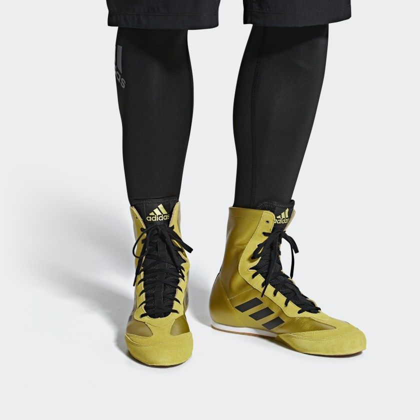 Gold adidas, Boxing boots, Boxing shoes