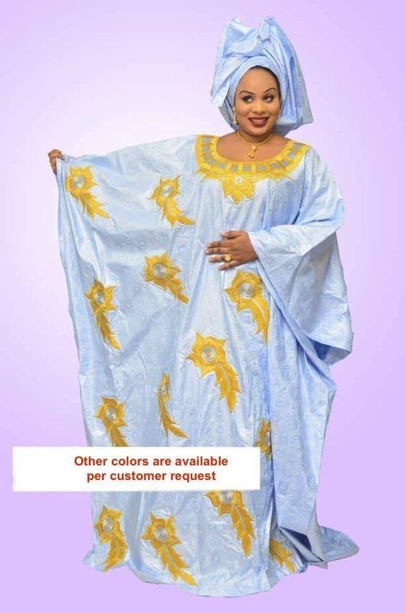 Mode africaine vêtements haut de gamme Getzner magnum or africaine robe africaine africaine robe/Bazin boubou, grande taille robe/Plus size clothing
