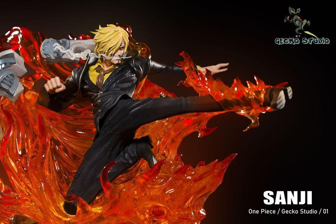 vinsmoke sanji one piece resin statue big gecko studios pre order statue anime figures anime