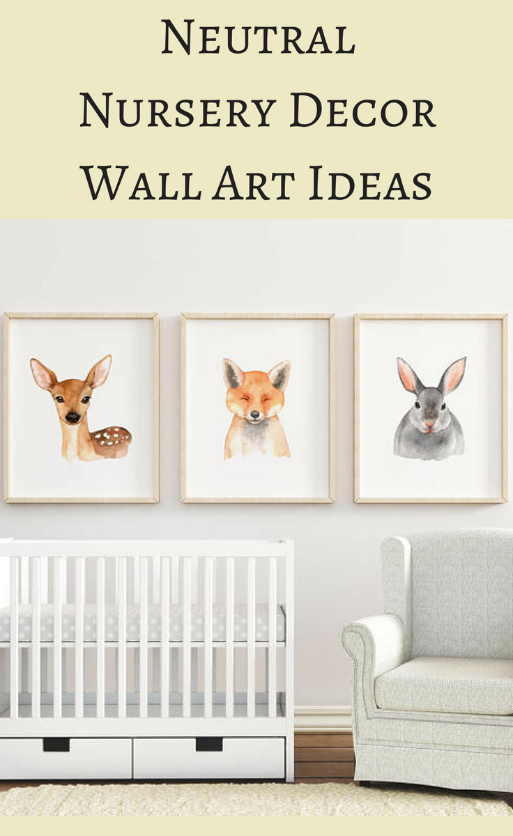 Adorable Woodland Animals Wall Art Decoration For Neutral