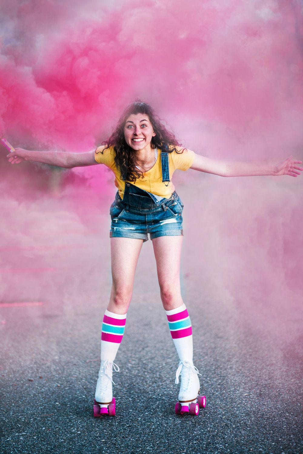 f0e6d89c369 Retro // 80's // Beatles // Target Style // Vintage Styled Shoot // burgers  // retro outfit // smoke bomb photography // rollerskate photography //  arcade ...