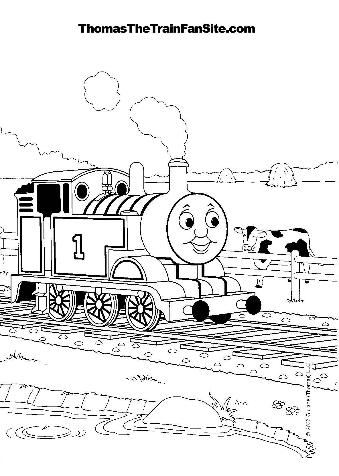 tomas colouring sheets thomas the tank engine coloring