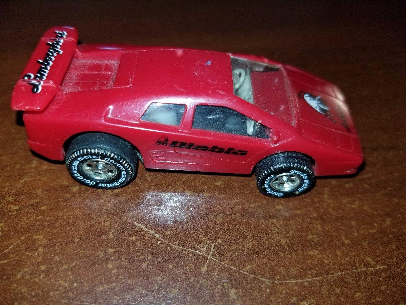 80s car toys  Cool Awesome VINTAGE DARDA MOTOR CAR RED LAMBORGHINI DIABLO BOX A