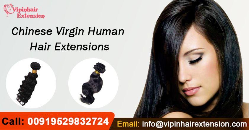 Chinese Virgin Human Hair Extensions Weave #virginhair