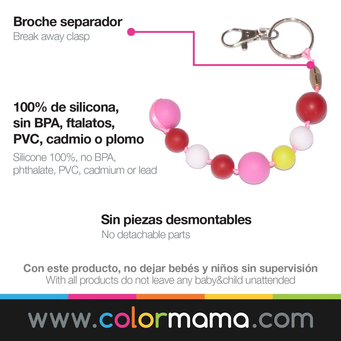 Sabias que todos nuestros accesorios puedes lavarlos con agua y jabón o incluso meterlos en el lavavajillas! Esto y más en www.colormama.com #BEcolor #BEcolormama #llavero #lavable