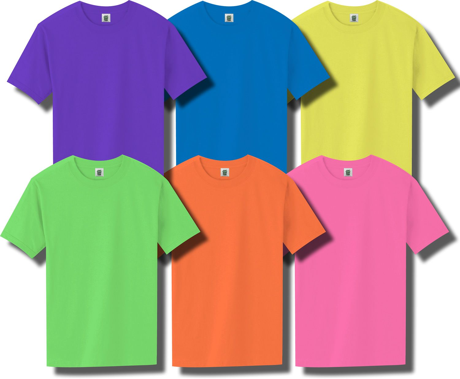 Happy Fathers Day Neon Bright Men/'s Tee Image by Shutterstock