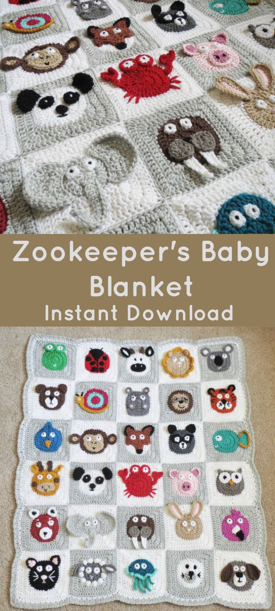 I Love This Crochet Baby Blanket Zookeepers Blanket Animal