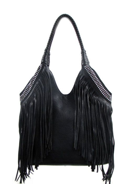 Fringe Purses Black And Bling What Could Be Handbags