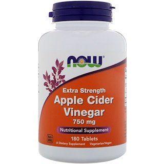 Now Foods Apple Cider Vinegar Extra Strength 750 Mg 180 Tablets Iherb Now Foods Apple Cider Vinegar Apple Cider