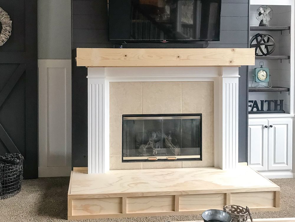 How To Build A Raised Fireplace Hearth Repurpose Life In 2020 Build A Fireplace Fireplace Hearth Diy Fireplace Makeover