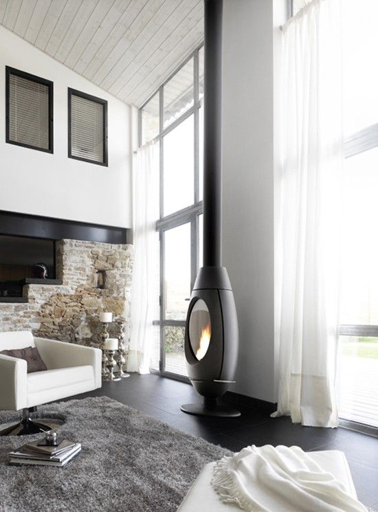 Invicta Ove 10 Kw Wood Burning Stove Contemporary Fireplace Designs Wood Burning Stove Contemporary Fireplace