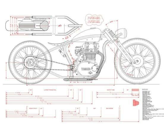 Yamaha XS650 new frame   cafe racer   Motorcycle, Bike drawing