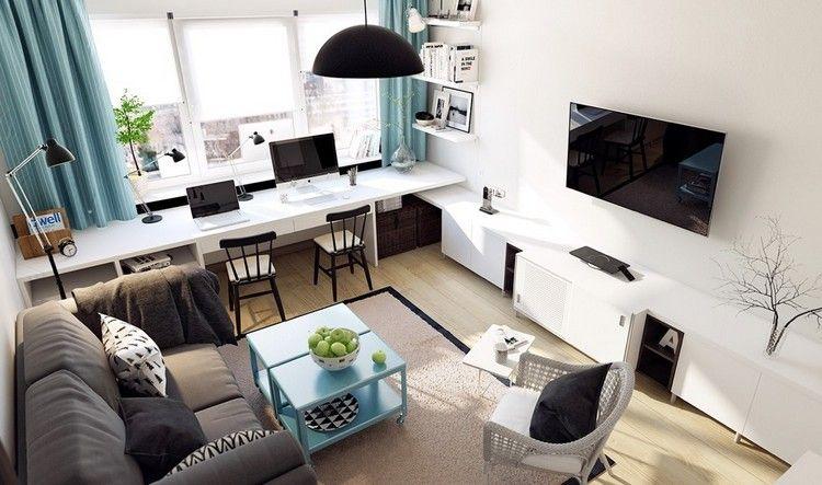 Kleines Wohnzimmer Modern Und Platzsparend Einrichten Wohnideen In