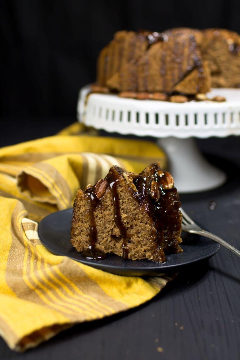 Cinnamon caramel bundt cake vegan glutenfree recipe
