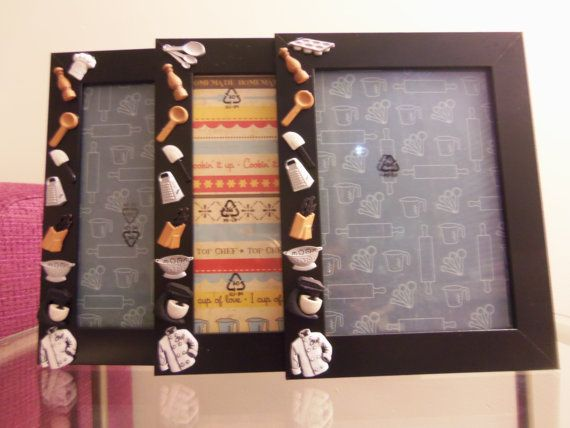 Chef In Kitchen Themed Picture Frame By Juste Jolie By Justejolie Frame Picture Frames Theme