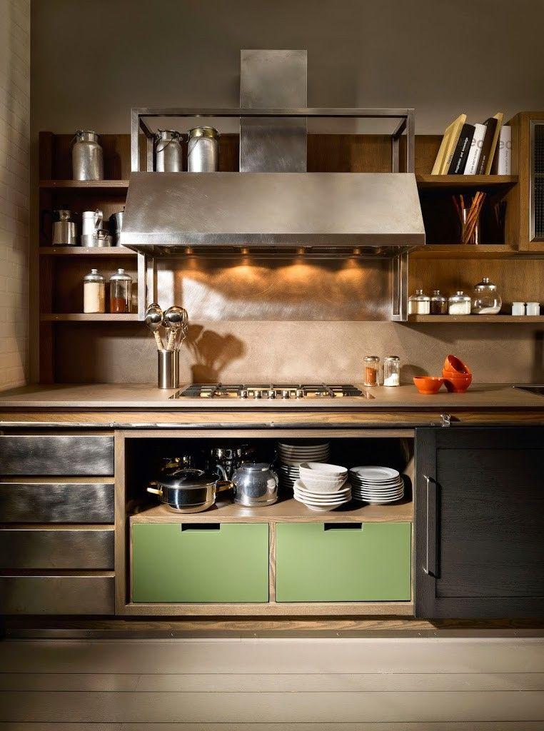 Cucine industrial chic firmate L\'Ottocento Cucine   For little space ...