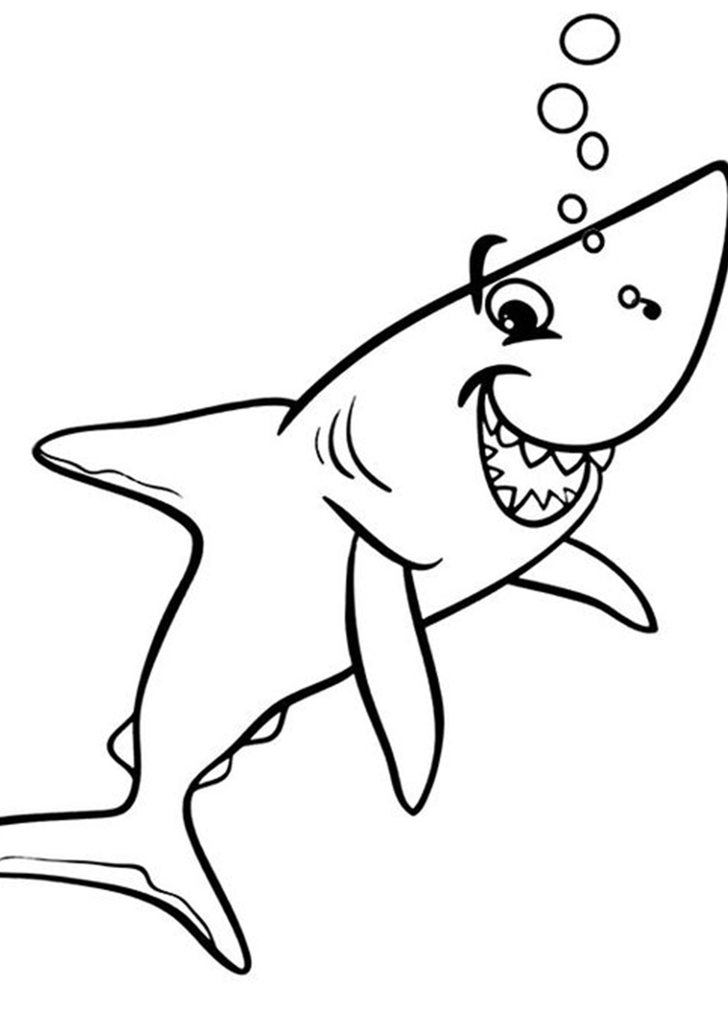 Free Easy To Print Shark Coloring Pages Shark Coloring Pages Coloring Pages Bird Coloring Pages