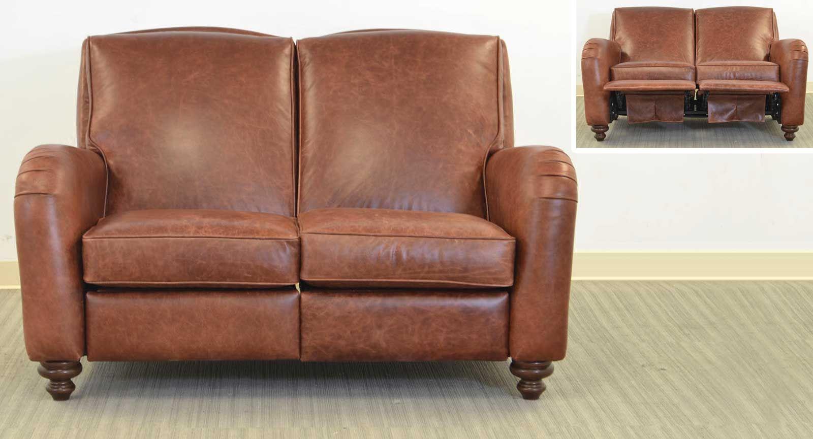 Jordi Reclining Loveseat ‹‹ The Leather Sofa Company Medium ...