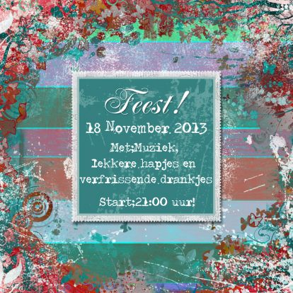 Feest sier plaats tekst en of foto b - Uitnodigingen - Kaartje2go