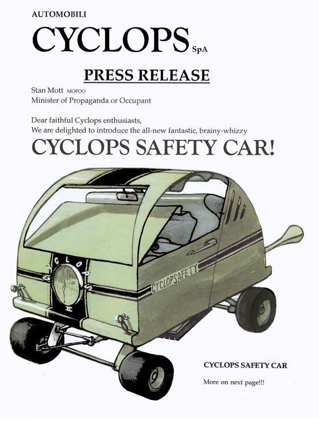 Stan Mott Cyclops Google Search Mott Car Safety Motts
