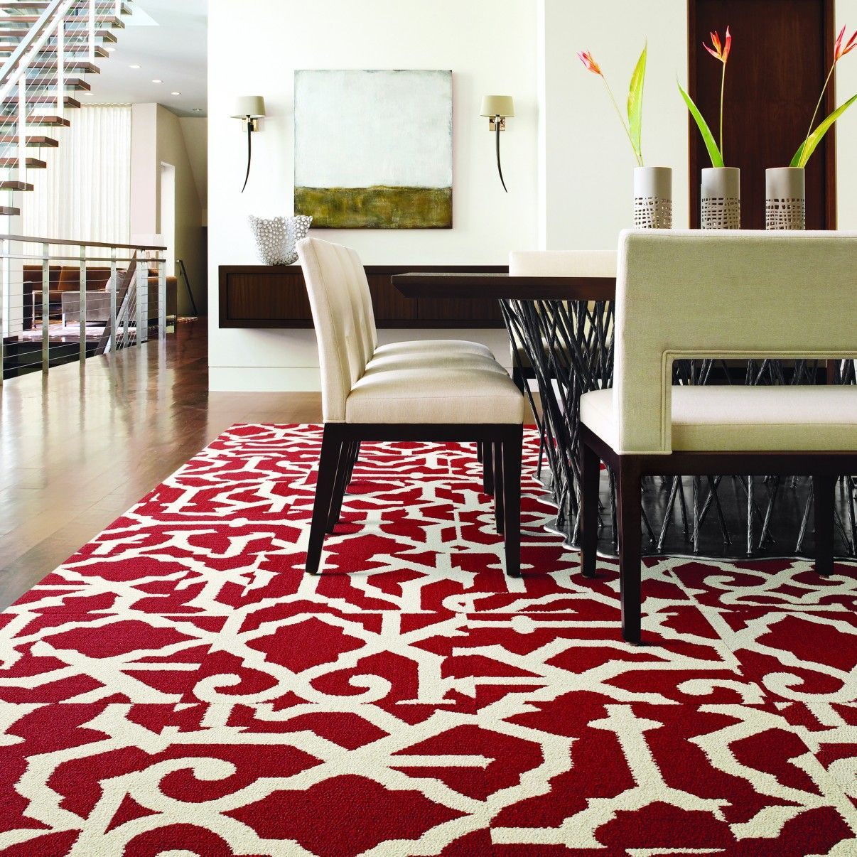 buy lasting grateness red carpet tile by flor how to style a red lacquer kitchen carpet. Black Bedroom Furniture Sets. Home Design Ideas