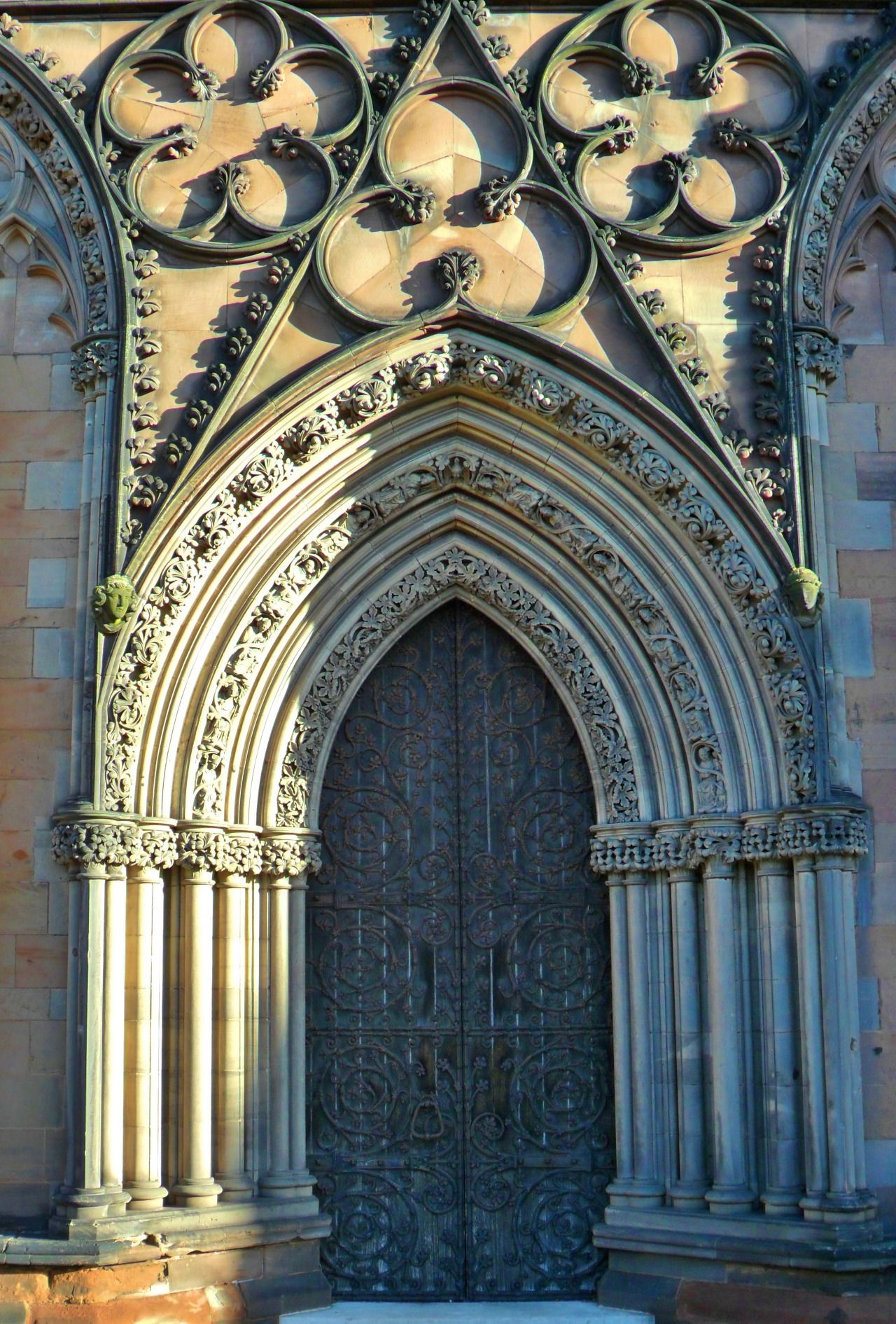"""vwcampervan-aldridge: """" ornamental Stonework on the medieval Lichfield Cathedral, Staffordshire, England All Original Photography by http://vwcampervan-aldridge.tumblr.com Please visit my other blog, I can reblog your photos there..."""