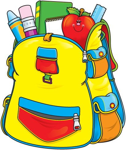 back to school clip art backpacks and school rh pinterest com elementary school clip art borders elementary school clip art images
