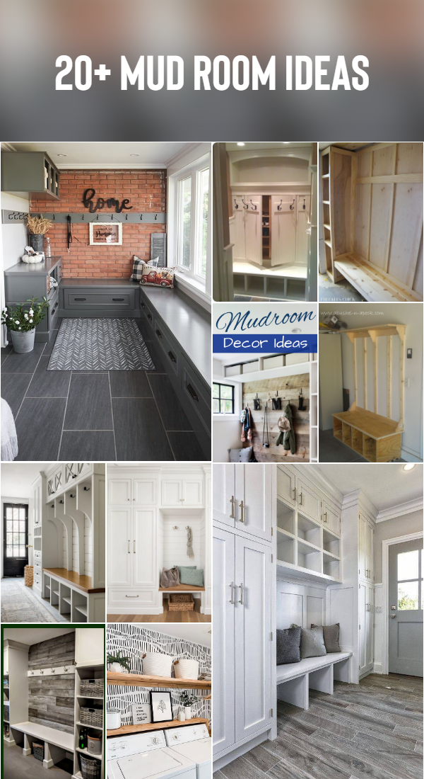 20+ Mud Room Ideas Today I'll be sharing some fun fall entryway decor ideas featuring our new side porch and mud room! Be sure to visit the other homes on the tour as well! #Mudroom #Entryway #FallDecor #OldHouse