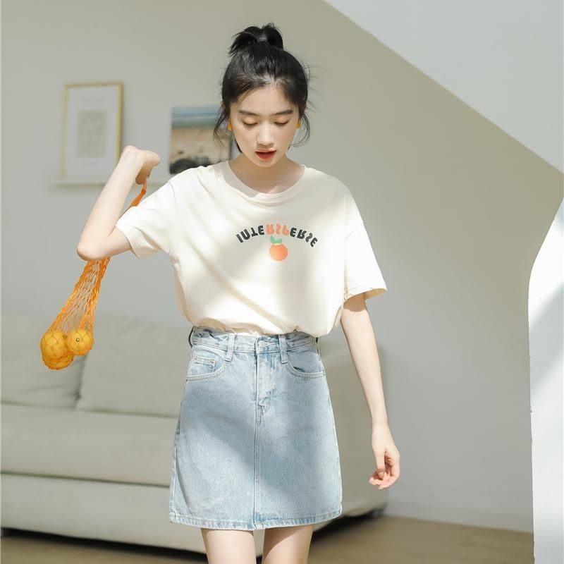 Harajuku Kawaii Tshirt Women Tops 2019 Summer Korean Style Fashion Swe Triple L Korean Fashion Korean Outfits Simple Outfits
