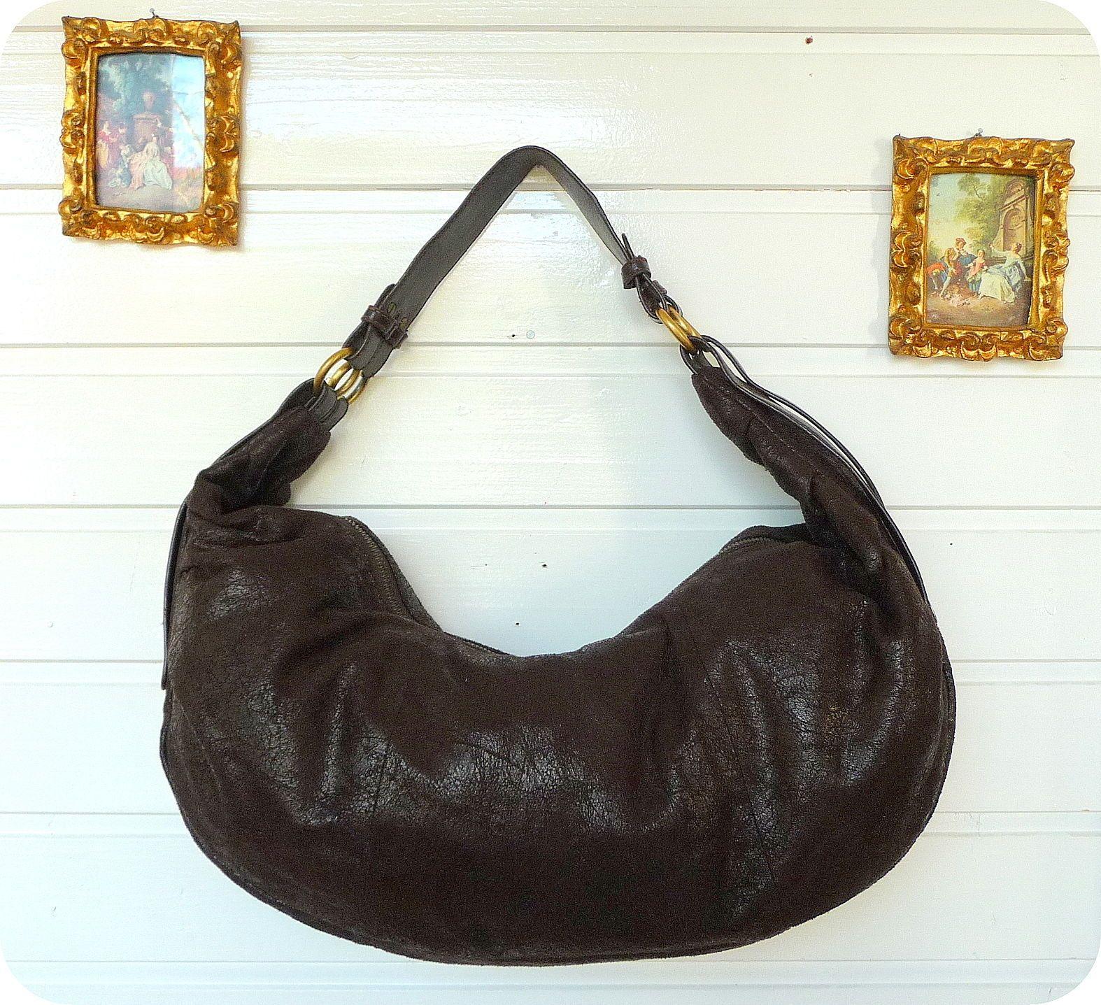 096d62ba0e9a6 ESTELLE Beutel Tasche Schultertasche Bag Shopper Braun Handtasche Purse
