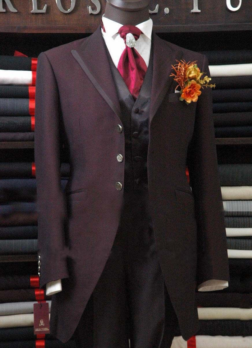 2013 Newly designed Top Quality purple Bridegroom Wedding Prom Suits ...