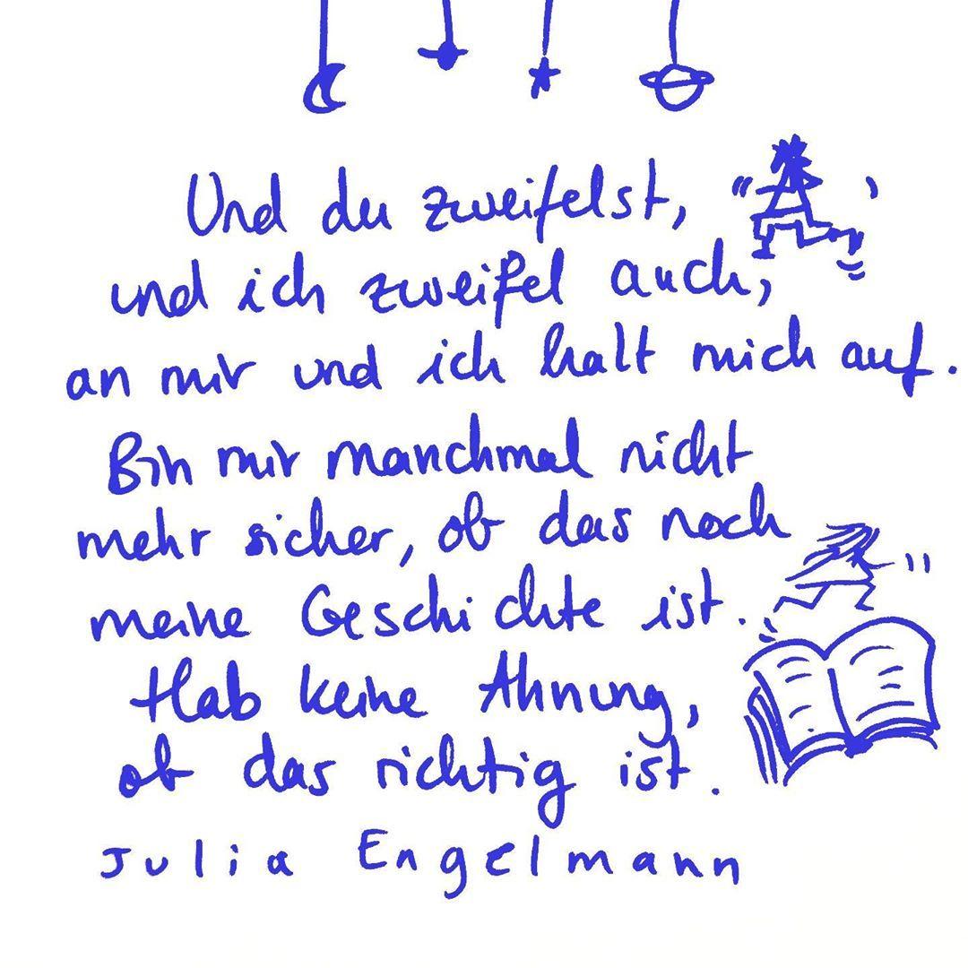 "Aus meinem neuen Buch und Hörbuch ""Keine Ahnung, ob das richtig ist""💖 From my new book and audiobook ""I do not know if that's right"" 💖 Online and at your favorite bookstore around the corner🧡"