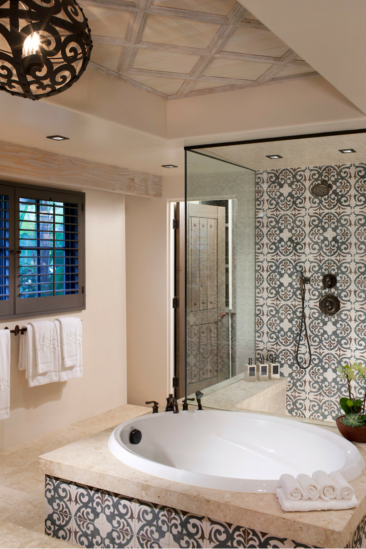 Deluxe Oversized Bath With Double Vanity Deep Soaking Tub And Separate Shower In Rancho Valencia Resort Deep Soaking Tub Luxury Vacation Rentals Soaking Tub
